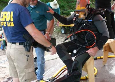 Chuck Preparing for Dive