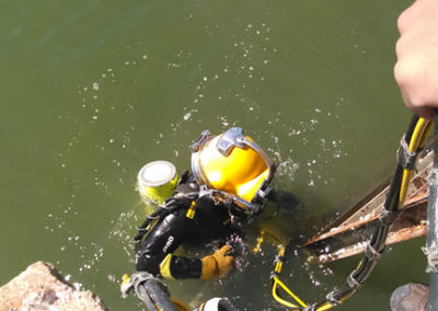 Deploying - Diver In the Water